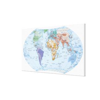 Mapa ilustrado 2 impresion de lienzo