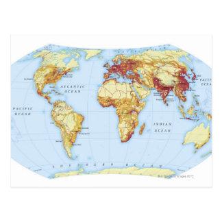 Mapa ilustrado 3 tarjetas postales