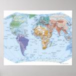 Mapa ilustrado 4 impresiones