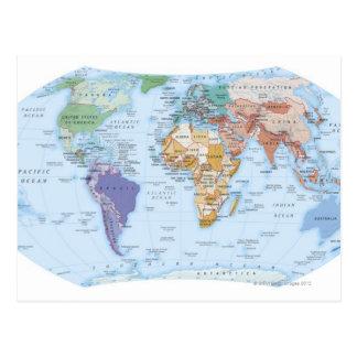 Mapa ilustrado 4 postal