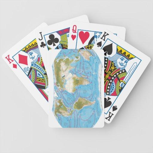 Mapa ilustrado barajas de cartas