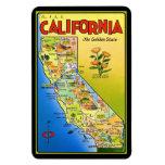 Mapa ilustrado de California Imán