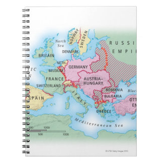 Mapa ilustrado de Europa Cuadernos