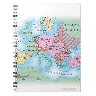 Mapa ilustrado de Europa Libros De Apuntes Con Espiral