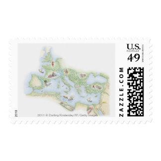 Mapa ilustrado del imperio romano envio