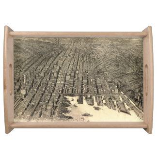 Mapa ilustrado del vintage de Baltimore (1912) Bandejas