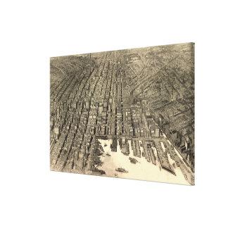 Mapa ilustrado del vintage de Baltimore (1912) Impresión En Tela