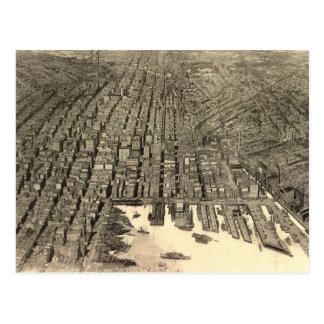 Mapa ilustrado del vintage de Baltimore (1912) Tarjetas Postales