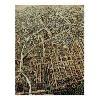 Mapa ilustrado del vintage de Berlín (1871) Postales