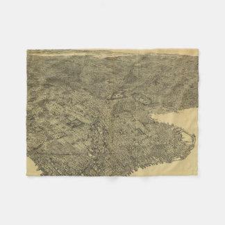Mapa ilustrado del vintage de Brooklyn NY (1897) Manta De Forro Polar