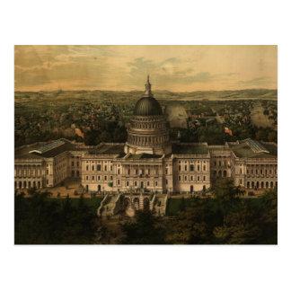 Mapa ilustrado del vintage de C.C. de Washington ( Postales