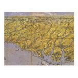 Mapa ilustrado del vintage de Carolina del Norte ( Postales