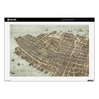 Mapa ilustrado del vintage de Charleston (1872) Skins Para 43,2cm Portátiles