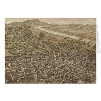Mapa ilustrado del vintage de Chattanooga (1886) Tarjeta De Felicitación