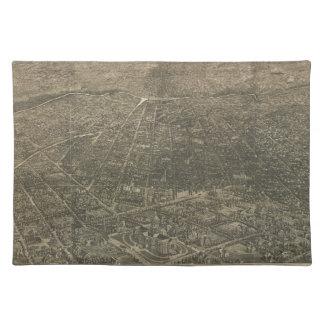 Mapa ilustrado del vintage de Denver Colorado (188 Manteles