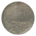 Mapa ilustrado del vintage de Denver Colorado (188 Platos