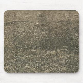 Mapa ilustrado del vintage de Denver Colorado (188 Alfombrilla De Raton