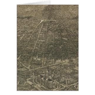 Mapa ilustrado del vintage de Denver Colorado (188 Tarjeton