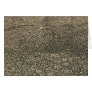 Mapa ilustrado del vintage de Denver Colorado (188 Tarjeta De Felicitación