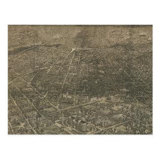 Mapa ilustrado del vintage de Denver Colorado (188 Tarjeta Postal