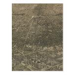 Mapa ilustrado del vintage de Denver Colorado (188 Postal