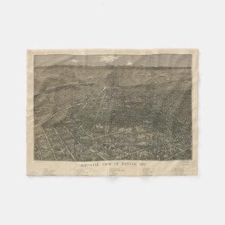 Mapa ilustrado del vintage de Denver Colorado Manta De Forro Polar