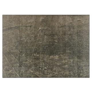 Mapa ilustrado del vintage de Denver Colorado Tablas Para Cortar