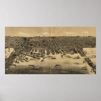 Mapa ilustrado del vintage de Duluth Minnesota (18 Póster