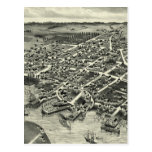 Mapa ilustrado del vintage de Edgartown mA (1886) Postal