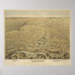 Mapa ilustrado del vintage de Fort Worth Tejas (18 Posters