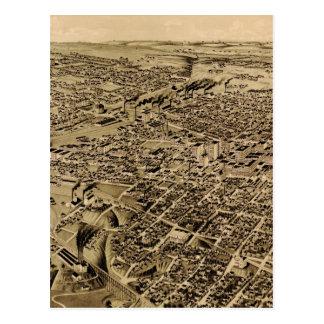 Mapa ilustrado del vintage de Fort Worth TX (1891) Postal