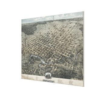 Mapa ilustrado del vintage de Houston Tejas (1873) Lona Estirada Galerias