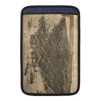 Mapa ilustrado del vintage de Key West FL 1884 Fundas Para Macbook Air