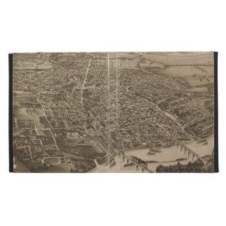 Mapa ilustrado del vintage de Knoxville (1886)
