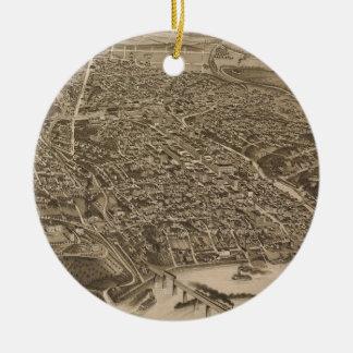 Mapa ilustrado del vintage de Knoxville (1886) Ornamento Para Arbol De Navidad