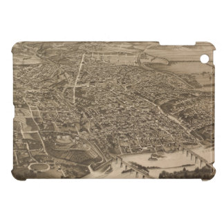 Mapa ilustrado del vintage de Knoxville (1886) iPad Mini Cobertura