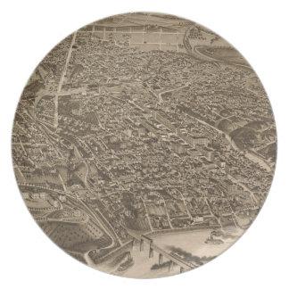 Mapa ilustrado del vintage de Knoxville (1886) Plato