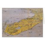 Mapa ilustrado del vintage de la Florida (1861) Felicitaciones