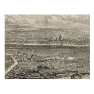 Mapa ilustrado del vintage de Londres Inglaterra ( Tarjetas Postales