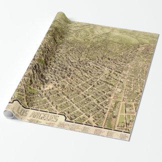 Mapa ilustrado del vintage de Los Ángeles (1909) Papel De Regalo