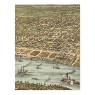 Mapa ilustrado del vintage de Memphis Tennessee Postal