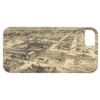 Mapa ilustrado del vintage de Milwaukee meridional iPhone 5 Case-Mate Fundas