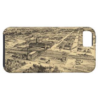 Mapa ilustrado del vintage de Milwaukee meridional iPhone 5 Case-Mate Cárcasa