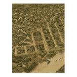 Mapa ilustrado del vintage de Montgomery Alabama Postal