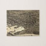 Mapa ilustrado del vintage de Nantucket (1881) Puzzle Con Fotos