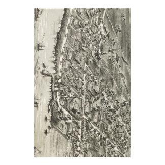 Mapa ilustrado del vintage de Narragansett RI (188 Papeleria