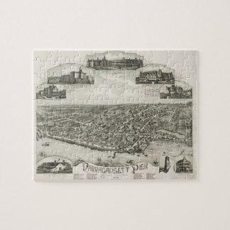 Mapa ilustrado del vintage de Narragansett RI (188 Puzzle Con Fotos