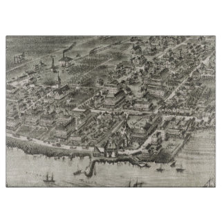 Mapa ilustrado del vintage de Narragansett RI Tablas De Cortar