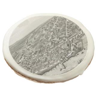 Mapa ilustrado del vintage de Narragansett RI