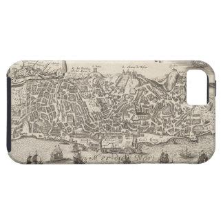 Mapa ilustrado del vintage de New York City (1672) iPhone 5 Protector